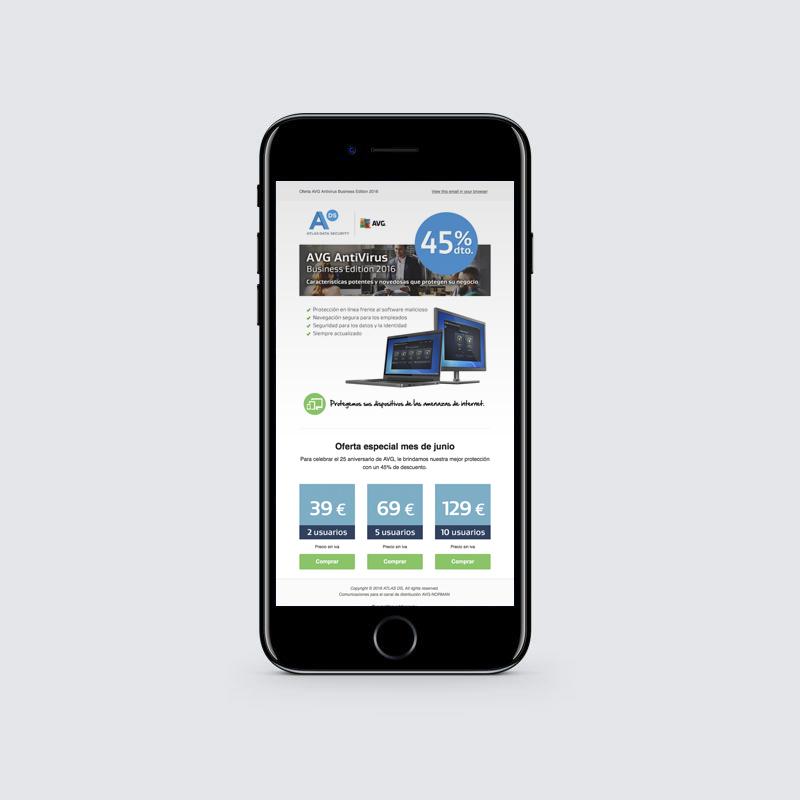 Diseño newsletter Atlas Data Security
