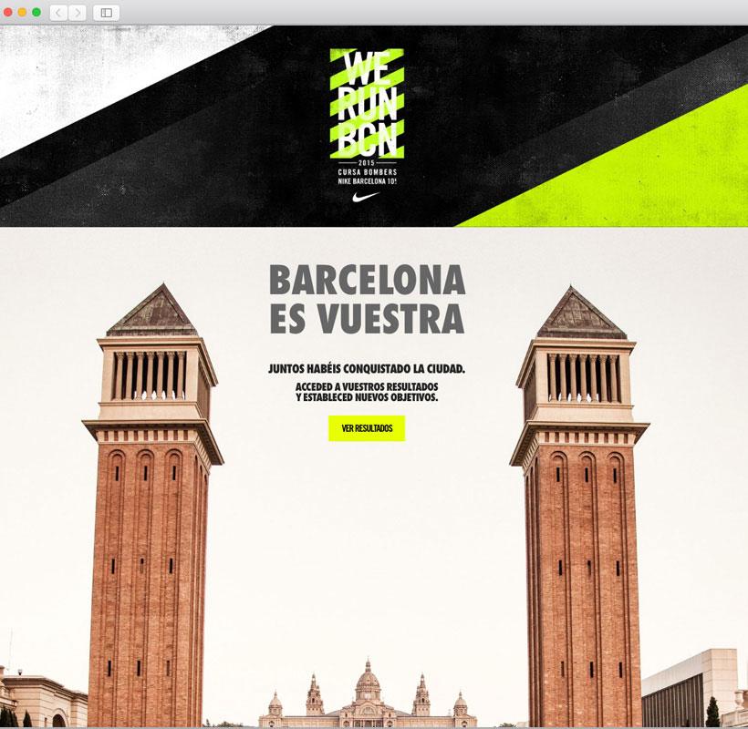Ventana inicio resultados WE RUN Barcelona