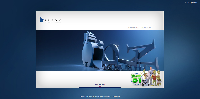 Diseño web ventana inicio Ilion