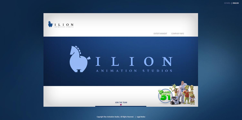 Diseño web ventana inicio Ilion logotipo